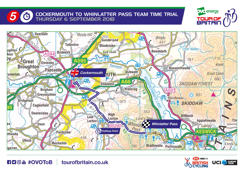 Tour of Britain Cockermouth Map