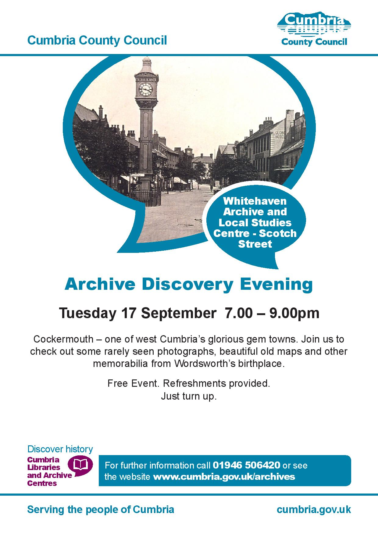 Archive Discovery Evening Cockermouth